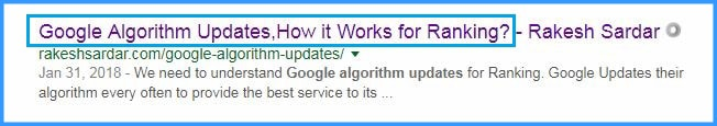 Page Title, SEO Tips for Beginners