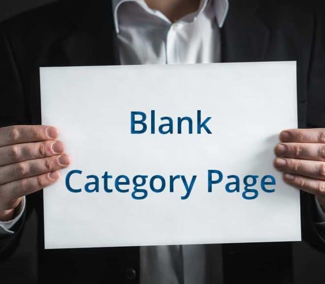 WordPress Category Page is Blank. Nothing Found